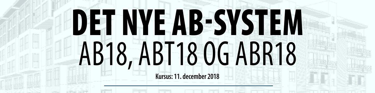 Det nye AB-system - AB18, ABT18 og ABR18