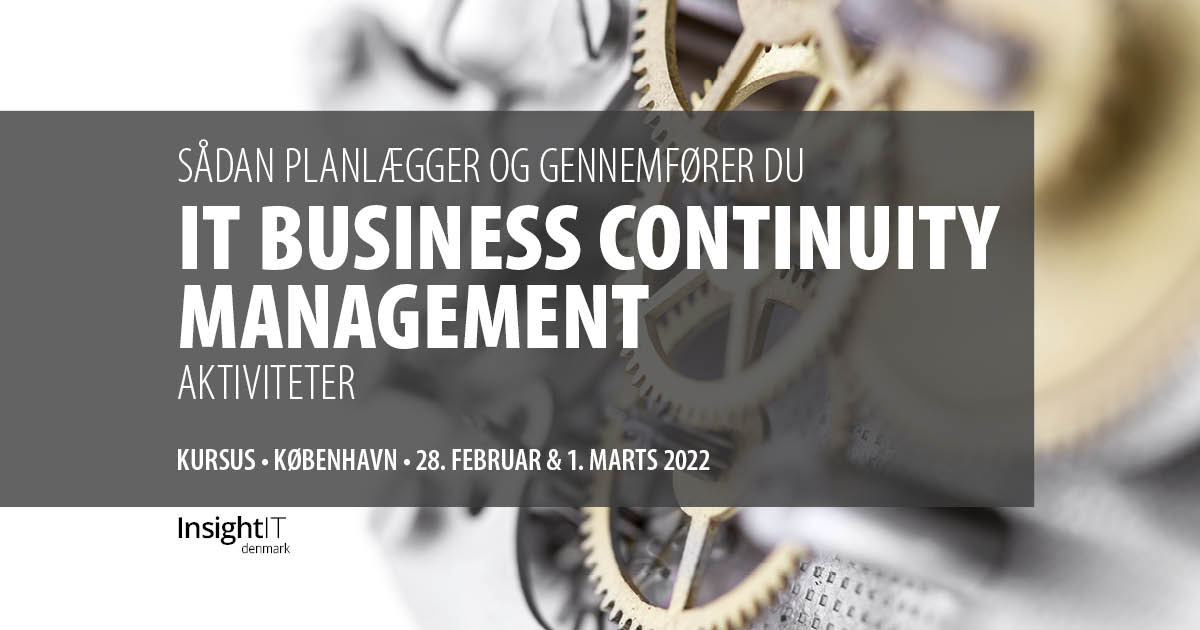 IT Business Continuity Management