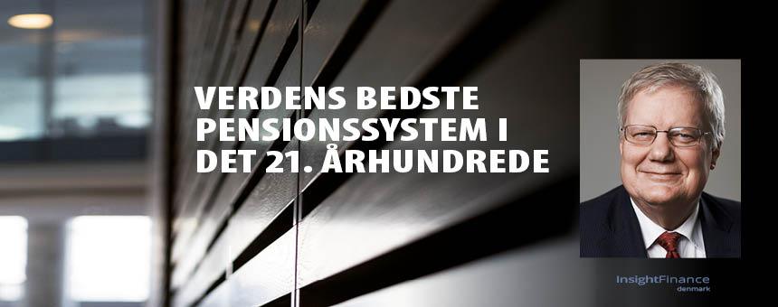 Billede af Bjarne Hastrup, der taler om Danmarks pensionssystem på konferencen Liv & Pension.