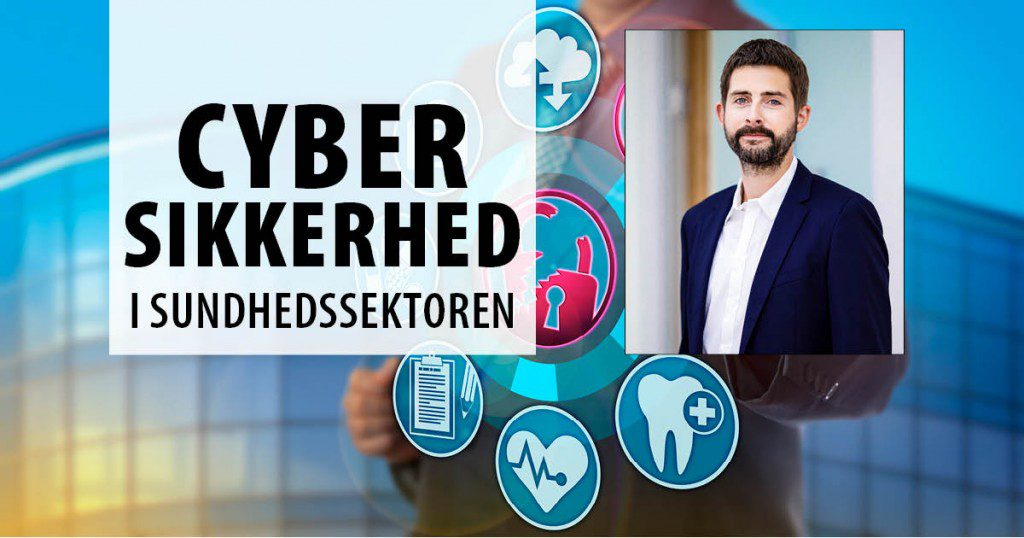 Billede af Emil Bisgaard, der taler på Cybersikkerhed i sundhedssektoren
